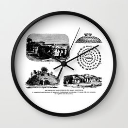 Archaeological Evidences Wall Clock