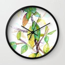 Jasmine leaves Wall Clock