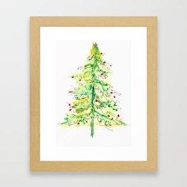 Fa La La La Tree Framed Art Print