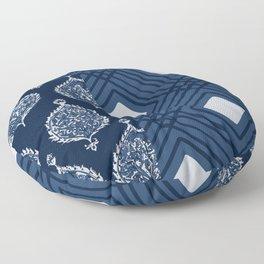 Pompeii in Navy Blue Floor Pillow