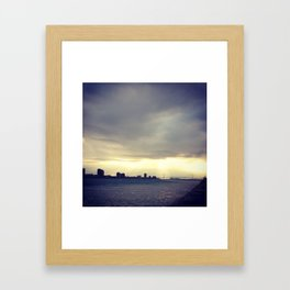 Detroit: Ambassador Bridge Framed Art Print