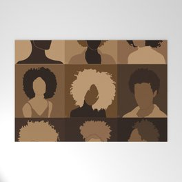 FOR BROWN GIRLS COLLECTION COLLAGE Welcome Mat