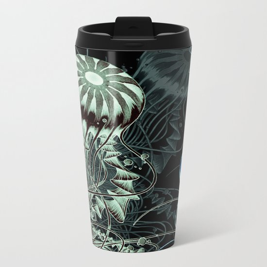 Chrysaora hysoscella (Dark) Metal Travel Mug