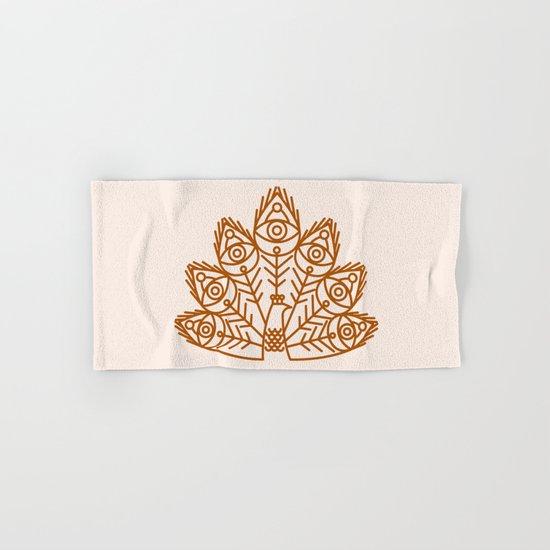 Cosmic Peacock Hand & Bath Towel