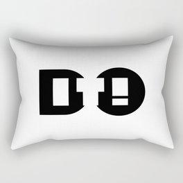 Do it, a short life quote. Rectangular Pillow