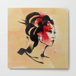 Spring Geisha Metal Print