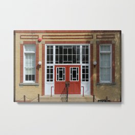 Doors on a School Metal Print