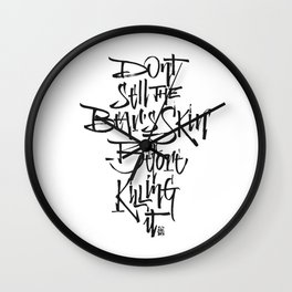 BEARSKIN Wall Clock