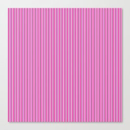 Pink Pinstripes Canvas Print