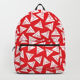 Triangle red and white Backpack