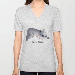 Koala Sketch - Not Now - Lazy animal Unisex V-Neck