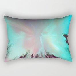 Deep Pastel Aurora Borealis Rectangular Pillow