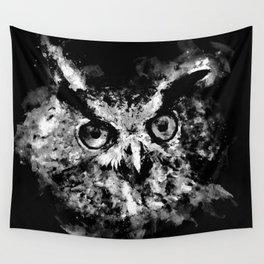 owl perfect black white Wall Tapestry