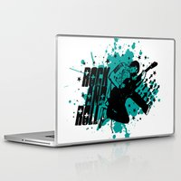 rock and roll Laptop & iPad Skins featuring Rock & Roll by Chamber Decals