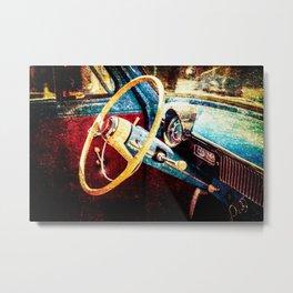 Vintage Car Interior Color Metal Print