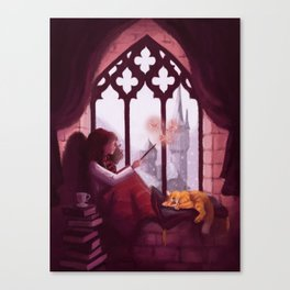 Hermione Reading Canvas Print