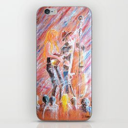 I Love Bluegrass Pastel Painting iPhone Skin