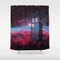 Dr Who police box  Shower Curtain