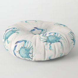 Atlantic Blue Crab Floor Pillow