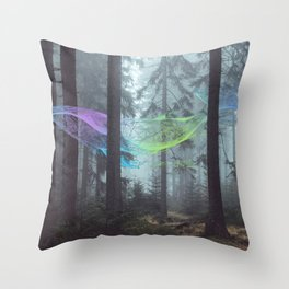 Whale Music in the Forest Throw Pillow