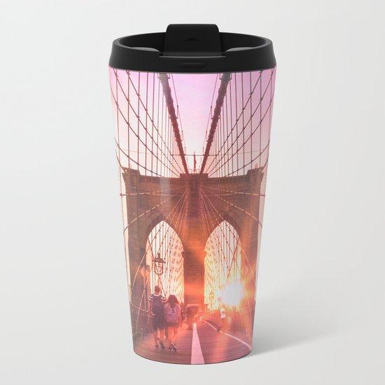 NYC Brooklyn Bridge Metal Travel Mug