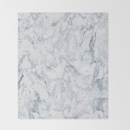 Vintage elegant navy blue white stylish marble Throw Blanket
