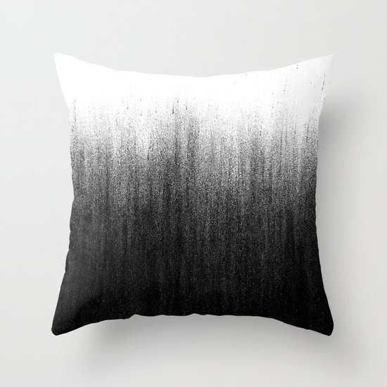 Throw Pillows Charcoal : Charcoal Ombre Throw Pillow by Caitlin Workman Society6