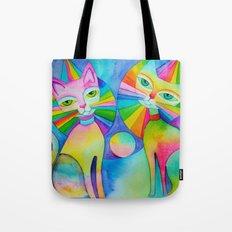 Rainbow Pussies Tote Bag