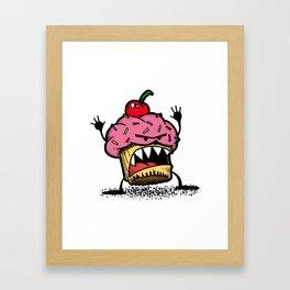 Cupcake Monster Framed Art Print