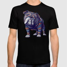 English Bulldog (Color Version) Mens Fitted Tee 2X-LARGE Black