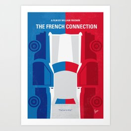 No982 My The French Connection minimal movie poster Art Print