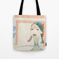 elsa Tote Bags featuring Elsa by John Murphy
