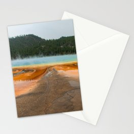 Grand Prismatic Spring Yellowstone National Park, Landscape Nature Photography Abstract Stationery Cards