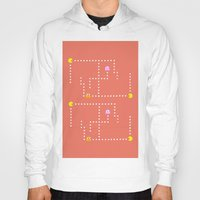 pacman Hoodies featuring Pacman by CATHERINE DONOHUE