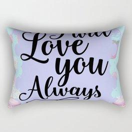I Will Love you Always - Sweet Shop Doughnut Macaron Rectangular Pillow