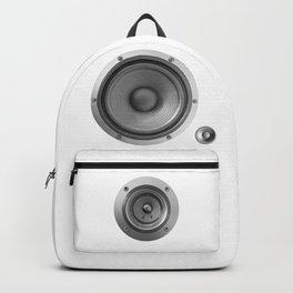 Subwoofer Speaker on white Backpack