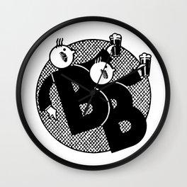 Belgian beer cartoon style Wall Clock