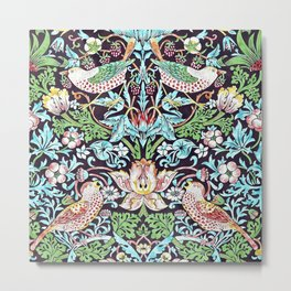 William Morris - Strawberry Thief - Artwork Reproduction for Wall Art, Prints, Tshirts, Posters, Men, Women Metal Print