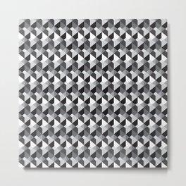 Optical Steps Dark Metal Print