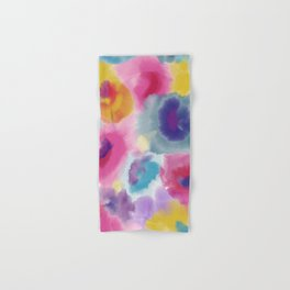WATERCOLOR FLOWERS Hand & Bath Towel