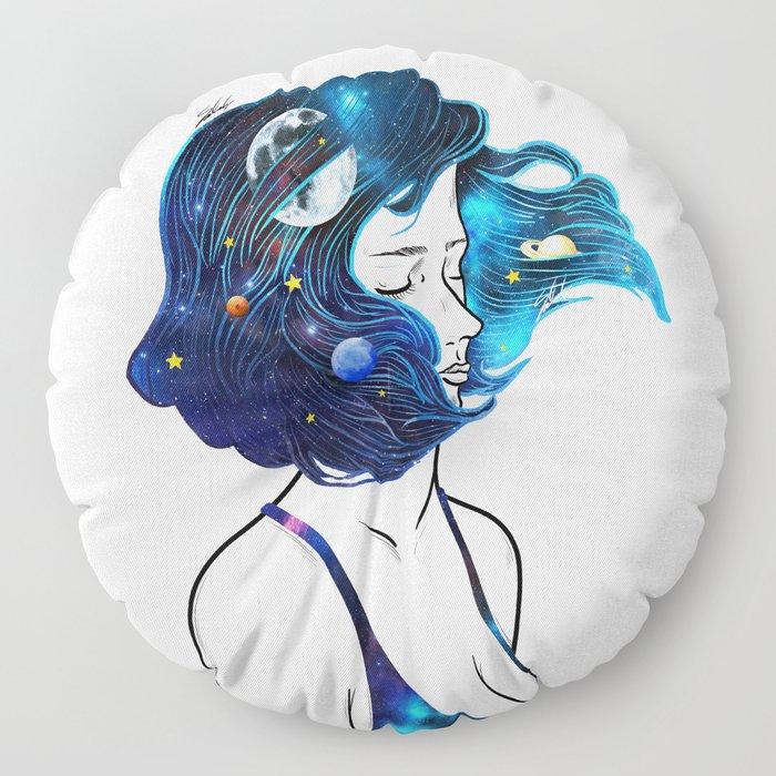 blowing  universe mind. Floor Pillow