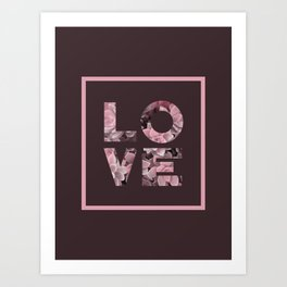 Succulent LOVE #society6 #love #succulent Art Print