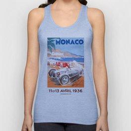 1936 Monaco Grand Prix Race Poster  Unisex Tank Top