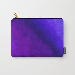 Deep Dark Abyss - Ultra Violet Ombre Abstract Carry-All Pouch