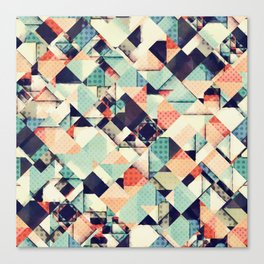 Jumble of Colors And Texture Canvas Print
