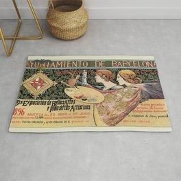Vintage Art Nouveau expo Barcelona 1896 Rug