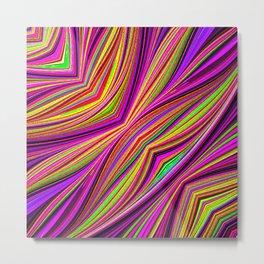 Rainbow Flow Abstact Metal Print