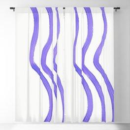 PURPLE STRIPES Blackout Curtain