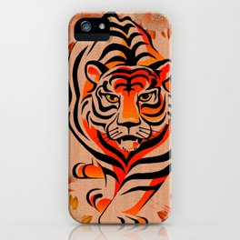 japanese tiger art iPhone Case