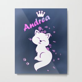 Name Andrea Metal Print